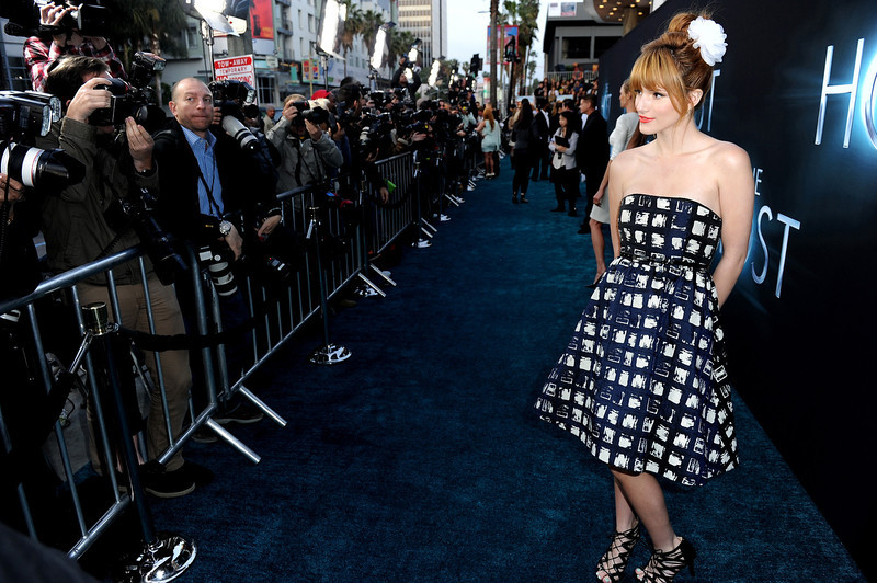 """. Actress Bella Thorne attends the premiere of Open Road Films \""""The Host\"""" at ArcLight Cinemas Cinerama Dome on March 19, 2013 in Hollywood, California.  (Photo by Kevin Winter/Getty Images)"""