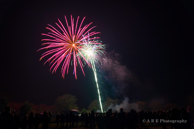 New Year's Eve firework display on The Green 2020