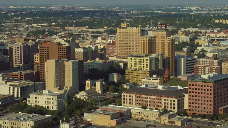 Drone footage Downtown San Antonio Tx 4k 24p