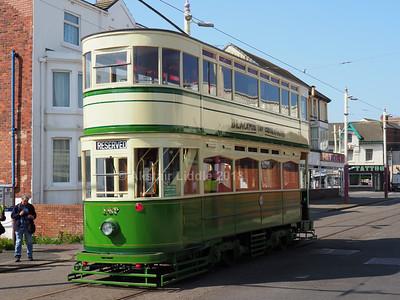 Blackpool Heritage Tram 147 in Hopton Road