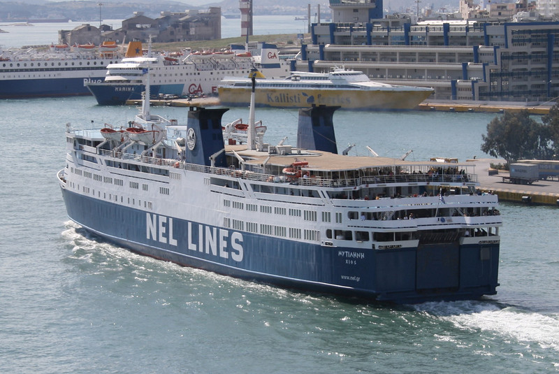 2008 - F/B MYTILENE departing from Piraeus.