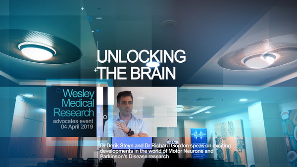 """Unlocking The Brain"" Event at Wesley Medical Research"
