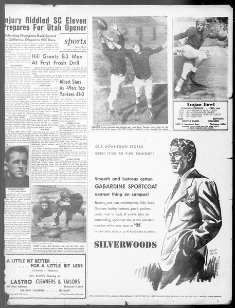 Daily Trojan, Vol. 40, No. 1, September 13, 1948
