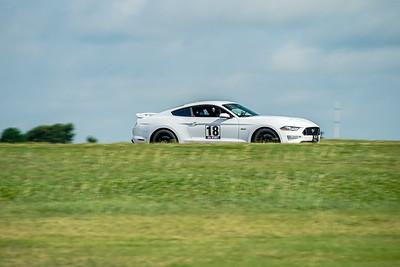 18 White Mustang