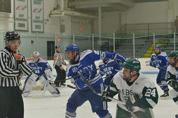 BABSON HOCKEY V COLBY  TOURNAMENT  1.3.2014