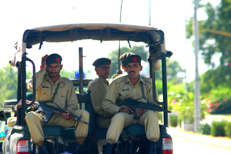 An army patrol that occasionally went by