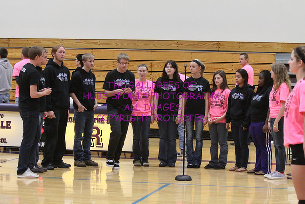 2012 RTHS LADY HUBS VARSITY VOLLEYBALL vs YORKVILLE + THINK PINK