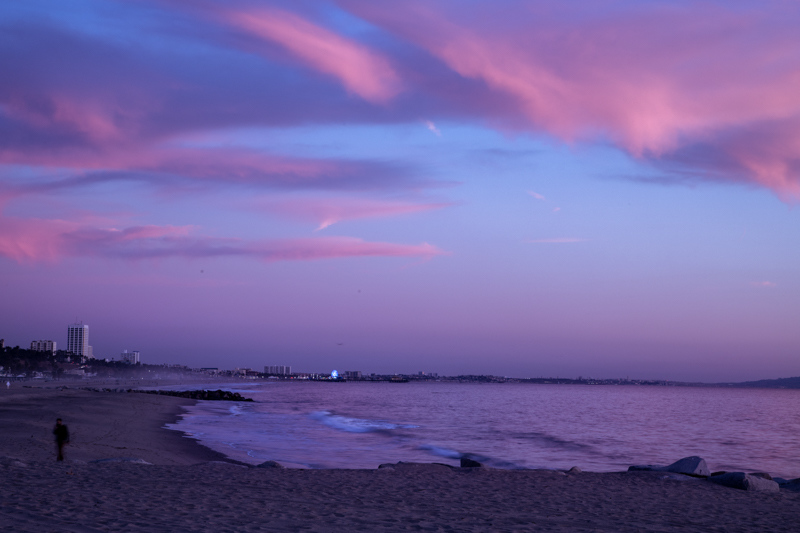 January 7 - Sunset over Santa Monicawith pink cloud reflections.jpg