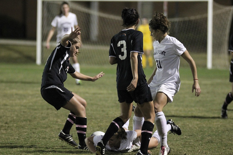 Meagan Reynolds, 17, wins possession of the ball.