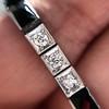 Art Deco Diamond & Onyx Bracelet 17