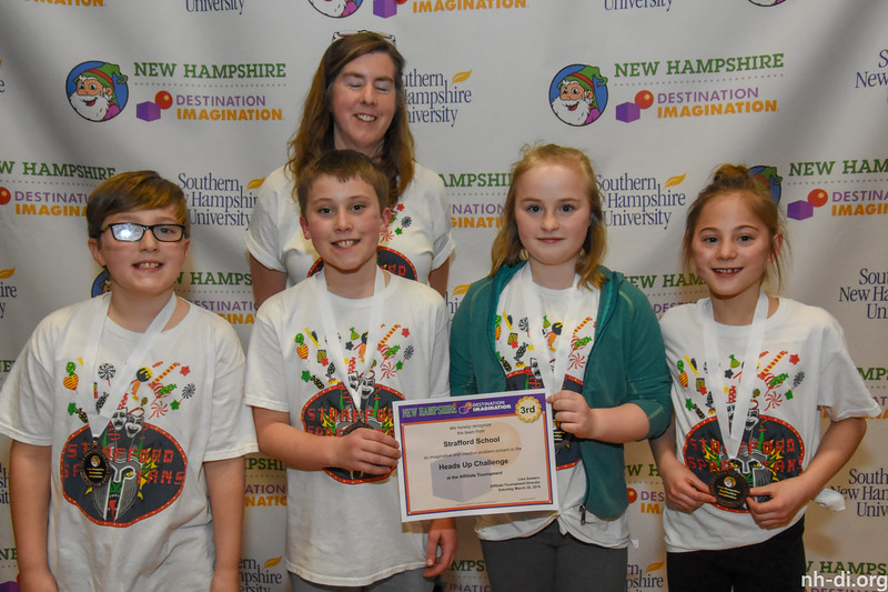 3rd place. 130-89307- Strafford School- Strafford- Elementary- Heads Up- Improvisational Challenge