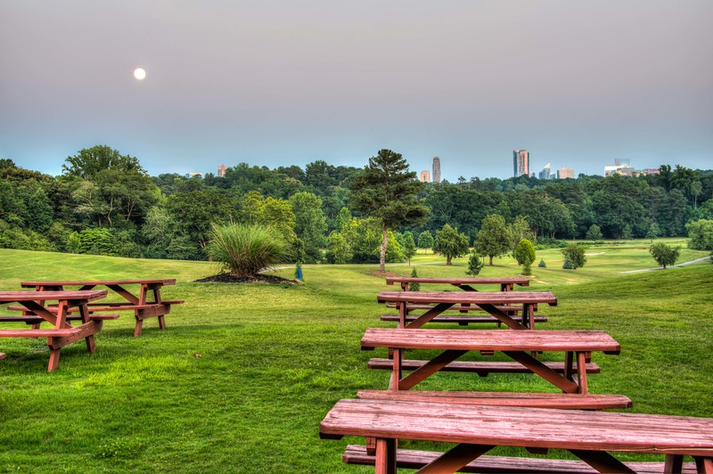 Supermoon at North Fulton Golf Course