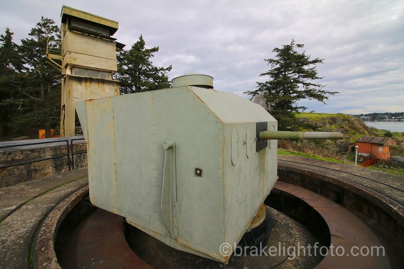 WW II gun emplacement and observation tower