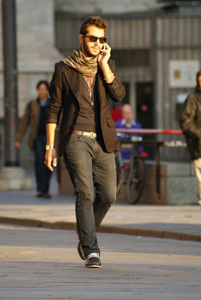 Milan, Italy.  Italian guy.