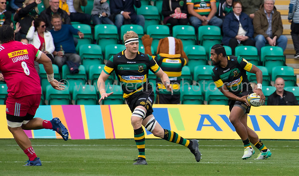 Northampton Saints vs Harlequins, Aviva Premiership, Franklin's Gardens, 30 September 2017