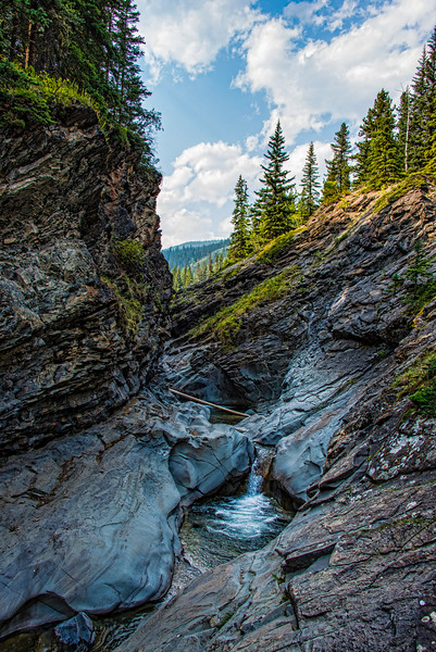 Blue Rock Creek Gorge, Kananaskis