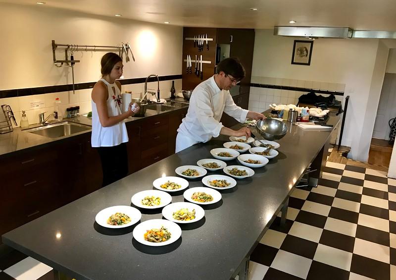 Emma helping plate