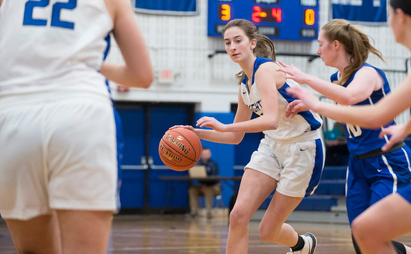 01/28/20 Wesley Bunnell | StaffrrSouthington girls basketball defeated Hall in a home contest on Tuesday night. Taylor Sullivan (2).