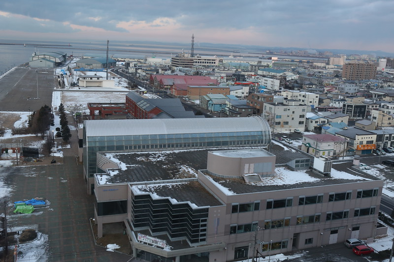 Morning view from our room: Art Hotel Asahikawa