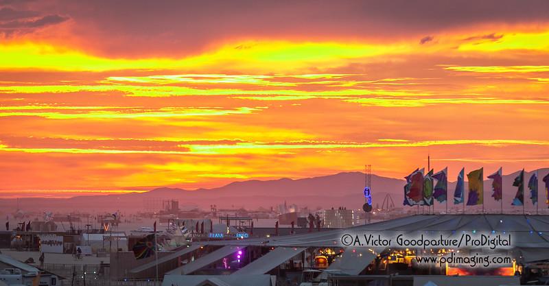 Sunrise over Burning Man Tuesday Aug.30.