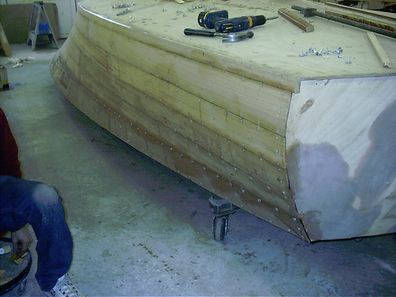 Starboard rear view of last plank.