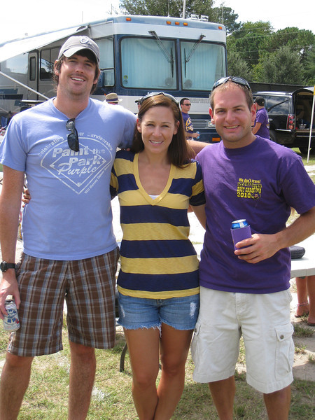 9/5/2010 - ECU vs. Tulsa - Danny, Kelly, Jon Deutsch