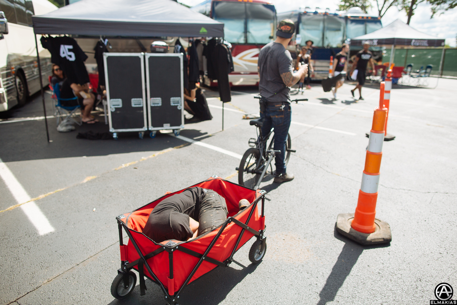 This is how I get around Warped Tour