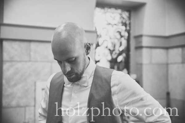 Cristalle & Adam B/W Wedding Photos