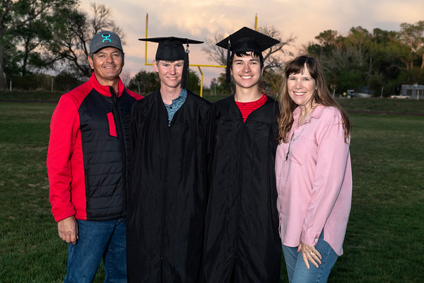 Colby and Nic's Graduation Hoehne 2020