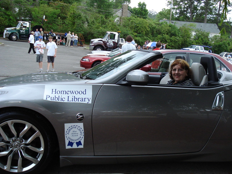 Deborah Fout, Director, driving the Nissan 370-Z provided by Crown Pontiac-Nissan.jpg