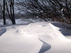 interesting snow banks after the blizzard ended