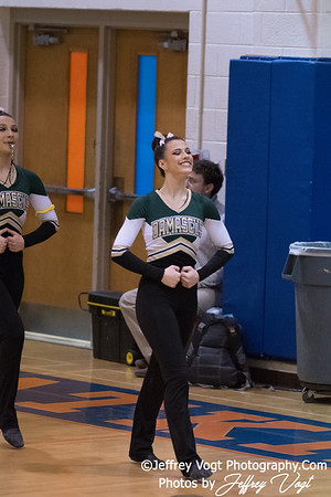1-27-2018 Damascus HS at Watkins Mill HS Pompons Invitational Division 1, Photos by Jeffrey Vogt Photography
