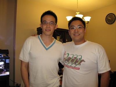 Dinner with Calvin Sept 2007