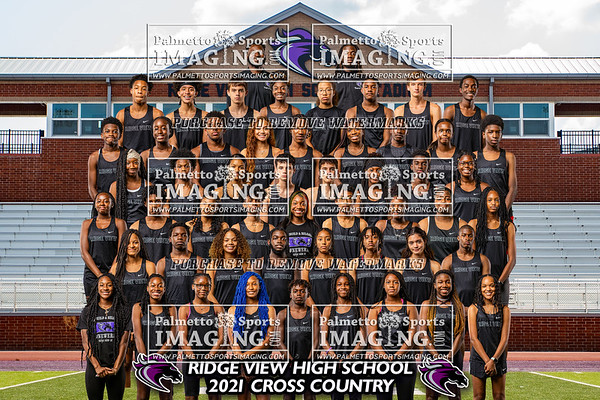 Ridge View 2021 Cross Country Team and Ind