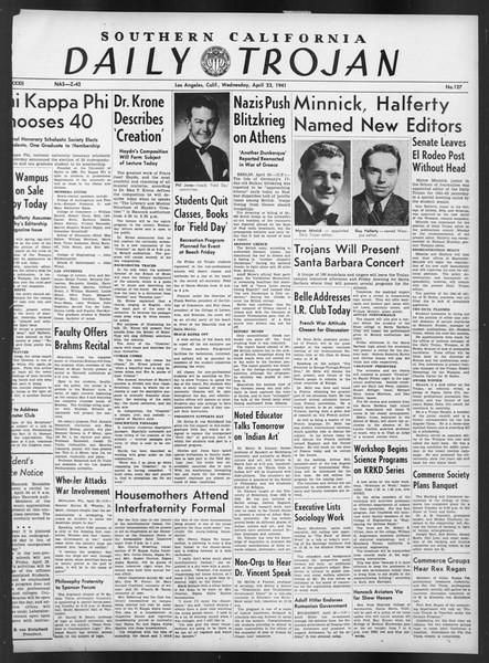 Daily Trojan, Vol. 32, No. 127, April 23, 1941