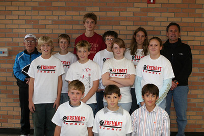 Middle School Tennis - 10/20/2006 Team Picture