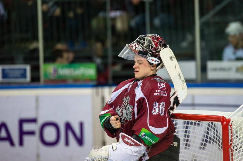 Dinamo Riga vārtusargs Jakub Sedlacek (36)