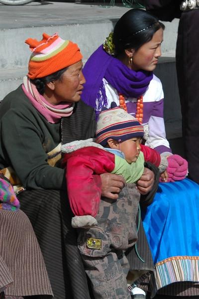 Grandma, Mom and Baby - Xiahe, China