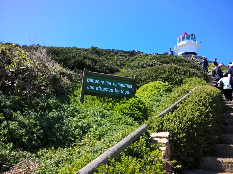An uphill climb led to the Cape Point Lighthouse.
