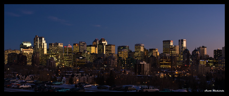 Skyline By Sunset