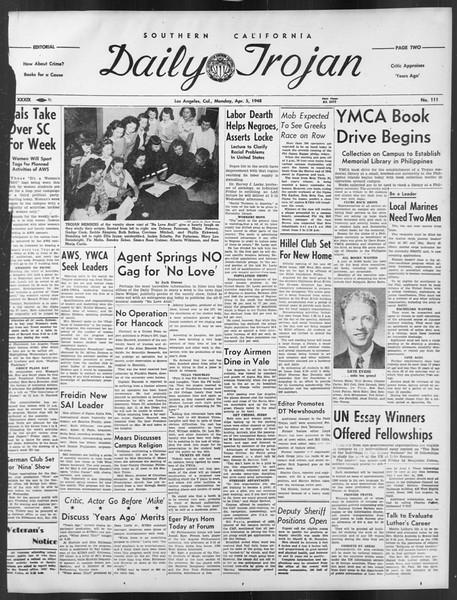 Daily Trojan, Vol. 39, No. 111, April 05, 1948