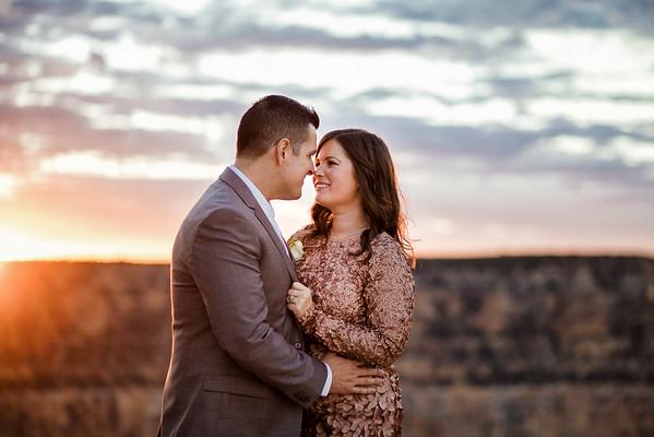 Laura and Noder   Granduer Point   Grand Canyon Wedding