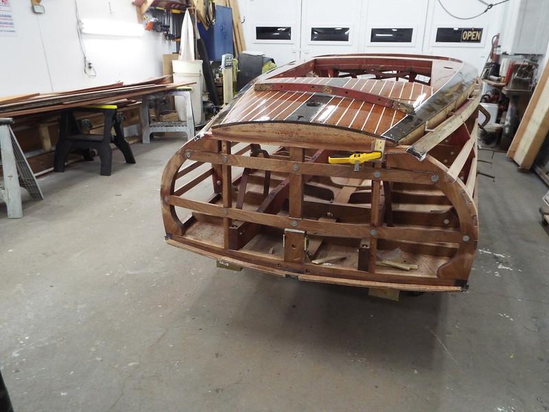 New transom deck frame installed.