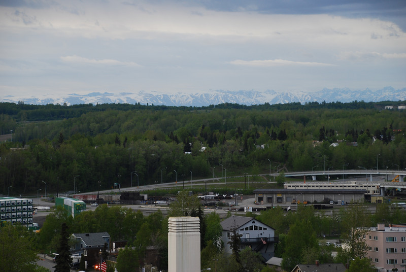 View from the Anchorage hotel balcony