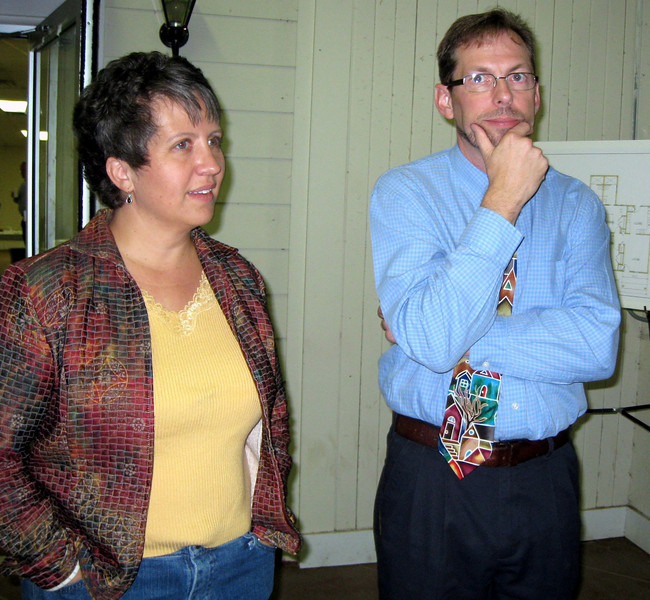 09 11-14 Cori and Kirk Lyman-Barner at Fish Fry & Auction Fundraiser (What is he thinking!?)lcf