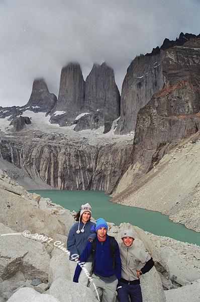 December 2005: Torres del Paine and us. Maya, Barak and Me