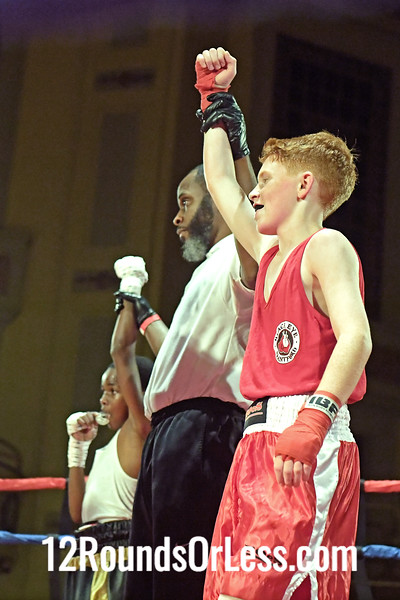 Bout 6 Owen Paquette, Red Gloves, Brantford Blackeye BC, Ontario, Canada -vs- Ibrahim Mason, Blue Gloves, Kingdoms Fitness BC, Cleveland, 80 Lbs