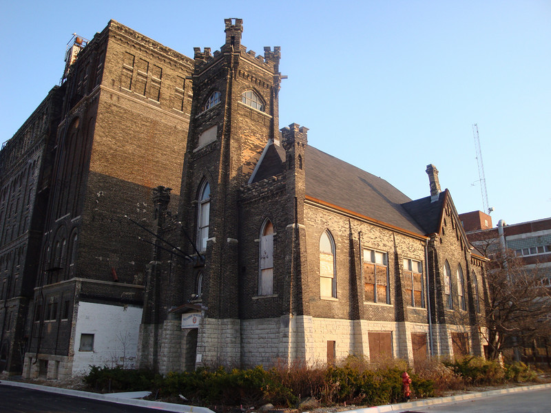 The old Rathskeller for Pabst Brewery. It was intentionally designed to look like a church.