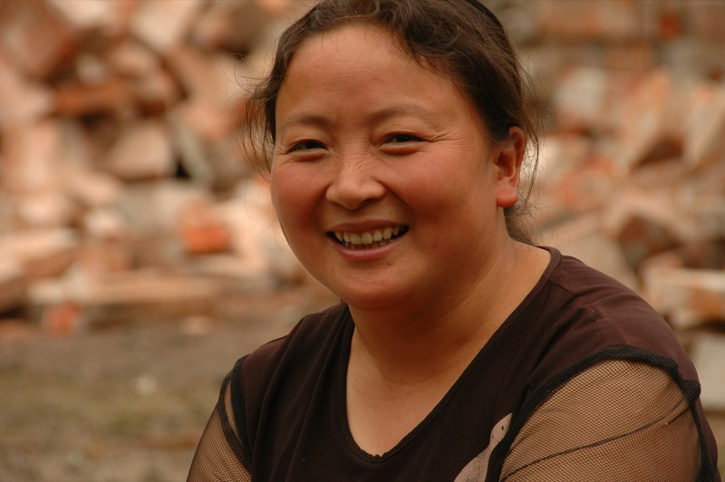 Chinese Woman, Beautiful Smile - Chengdu, China