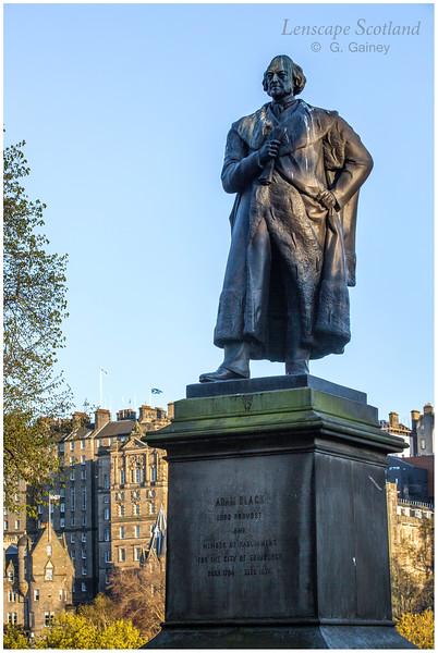 Adam Black statue, East Princes Street Gardens